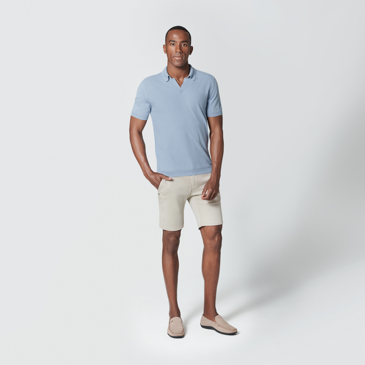Casual Knit Polo