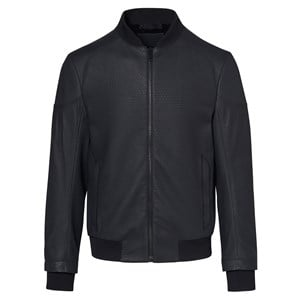Titan Structured Leather Bomber