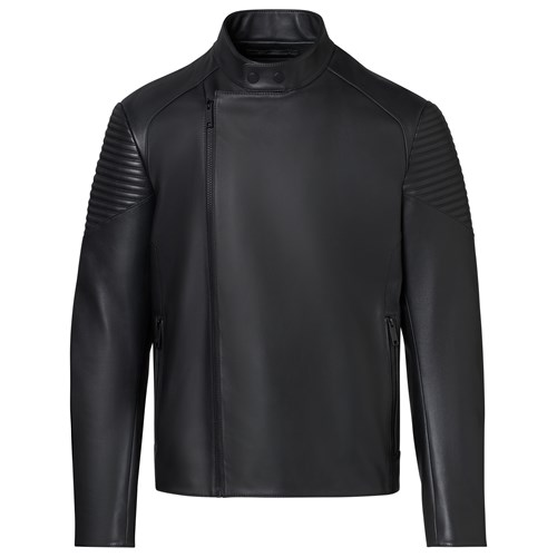 Asymmetric Zip MotoX Leather Jacket