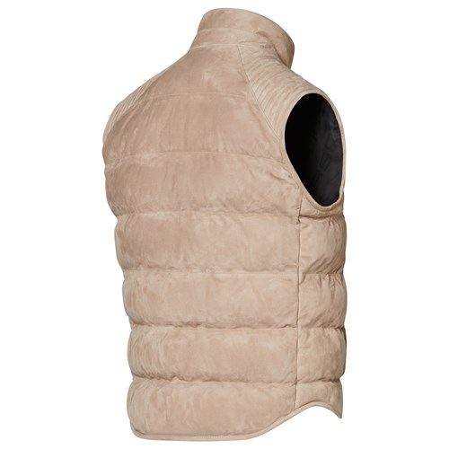 Padded Goat Suede Gilet