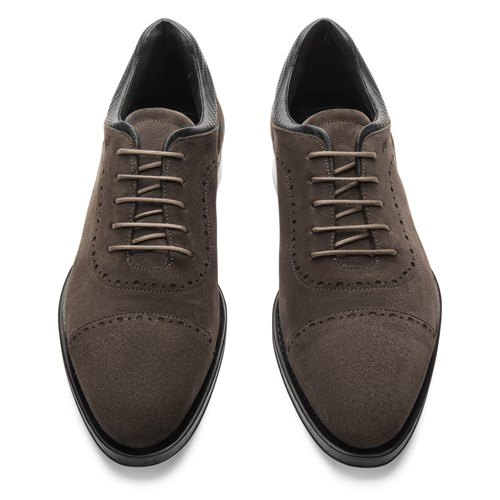 Business Casual GY Velours Lace Up Shoes