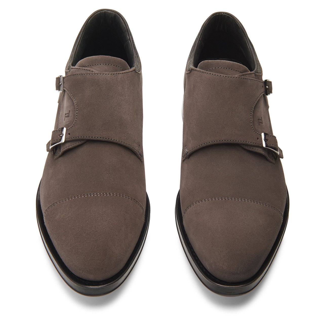 Business Casual GY Velours Double Monk Mocassim