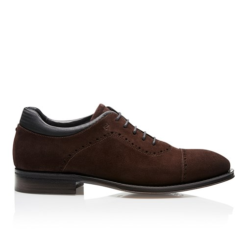 Business Casual GY Velours Lace Up