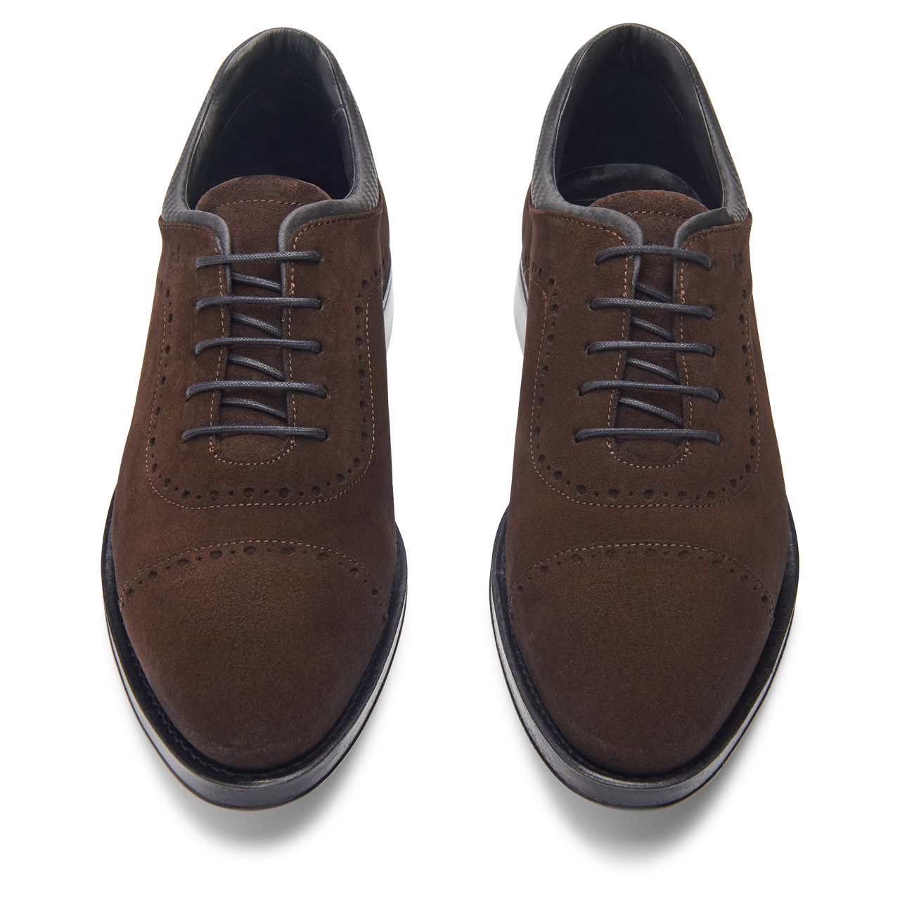 Business Casual GY Velours Lace Up Sapatos